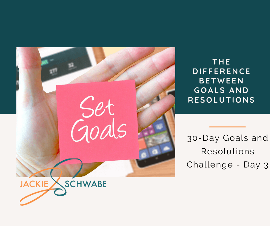What's The Difference Between Goals And Resolutions